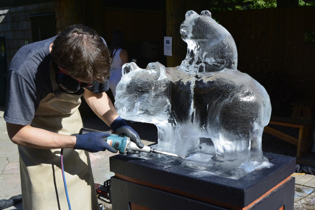 James ice carving